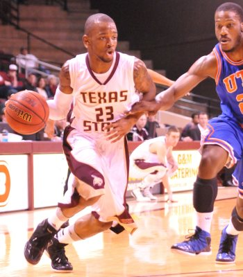 Texas State junior guard Deonte' Jones scored a career-high 21 points in the Bobcats' 91-74 loss to UT-Arlington.