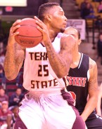 Texas State junior forward Joel Wright took home his second WAC Player of the Week honor.