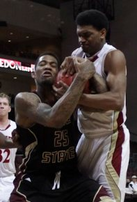 Texas State junior forward Joel Wright was named to the All-WAC Tournament team.