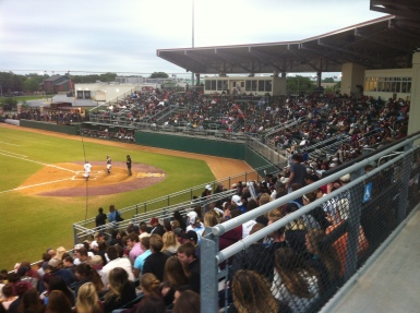 Fans packed Bobcat Ballpark to watch Tuesday's game (Photo by Tyler Mayforth).