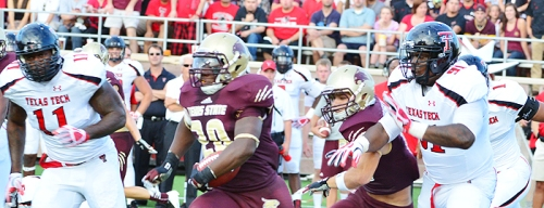 Texas State RB Terrence Franks gets in the clear against Texas Tech in 2012.